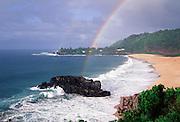 Rainbow, Waimea Bay, Oahu, Hawaii