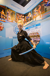 April 17, 2018 - Bangkok, Thailand - YouTube star, JesseJane McParland seen during a photo shooting at the World Association of Kickboxing Organisations (WAKO) stand at the Sport Accord 2018 in Centara Grand & Bangkok Convention Centre. (Credit Image: © Guillaume Payen/SOPA Images via ZUMA Wire)