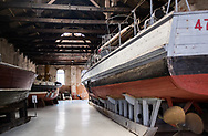 Ships on display at the Museo Storico Navale di Venezia in Venice, Italy