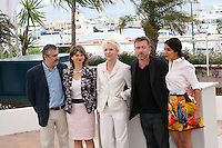 Luciano Monteaguido, Sylvie Pras, Tonie Marshall, Tim Roth, Leila Bekhti The Jury Un Certain Regard at the 65th Cannes Film Festival. Photocall on Saturday 19th May 2012 in Cannes Film Festival, France.