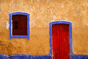PORTUGAL, ALGARVE, SOUTH COAST Portimao, colorful house facade