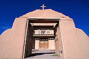Church of San Jose de Gracia on the high road to Taos, Las Trampas, New Mexico USA