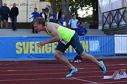 Nick Ekelund Arenander from Denmark in the 400m. Folksam Grand Prix Göteborg, Slottskogsvallen, 14. juni 2014.
