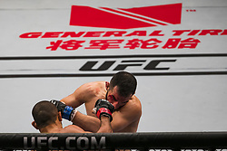 October 28, 2017 - Sao Paulo, Sao Paulo, Brazil - Oct, 2017 - Sao Paulo, Sao Paulo, Brazil - Fight between HACRAN DIAS and JARED GORDON (Flash) during UFC Fight Night, at the Ibirapuera Gymnasium in Sao Paulo, this Saturday (28). GORDON (in black) won. (Credit Image: © Marcelo Chella via ZUMA Wire)