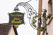 wrought iron sign henri brecht eguisheim alsace france
