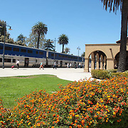 Amtrak station at Santa Barbara, CA.