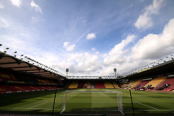 General view of Vicarage Road before the Premier League match at Vicarage Road, Watford