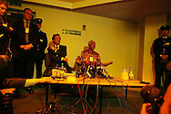 Nelson Mandela of South Africa holds a press conference in H.M. Prison Barlinnie, in Glasgow, Scotland,, 10.06.02, after visiting the convicted 'Lockerbie Bomber' Libyan Abdelbaset Ali Mohmed Al Magrahi.