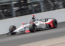 May 20, 2018 - Indianapolis, IN, U.S. - INDIANAPOLIS, IN - MAY 20: Marco Andretti, driver of the #98 U.S. Concrete / Curb Honda, on the track during the practice session during Pole Day for the Indianapolis 500, on May 20, 2018 at the Indianapolis Motor Speedway in Indianapolis, IN (Photo by Khris Hale/Icon Sportswire) (Credit Image: © Khris Hale/Icon SMI via ZUMA Press)