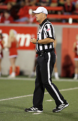 25 October 2014: Referee: Greg Sujack during an NCAA Missouri Valley Conference game between the Missouri State Bears and the Illinois State Redbirds at Hancock Stadium in Normal, Illinois.