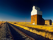 Old Granary in the ghost town of Ware near Lewistown, Montana, USA