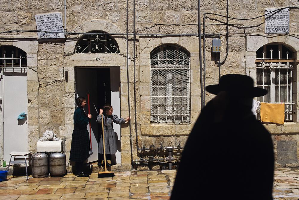 Scenes from a Hasidic community in Jerusalem.