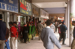 People shopping at main shopping centre in central Chandigarh; India,