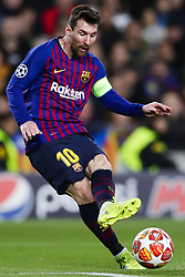 March 13, 2019 - Barcelona, Catalonia, Spain - March 13, 2019 - Barcelona, Spain - Uefa Champions League 1/8 of final second leg, FC Barcelona v Olympique de Lyon: Lionel Messi of FC Barcelona shoots a free shoot  (Credit Image: © Marc Dominguez/ZUMA Wire)