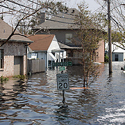 NEW ORLEANS, LA - September 4, 2005:  A completely submerged street in New Orleans, Louisiana on Sept. 4, 2005. (Photo by Todd Bigelow/Aurora)....