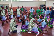 Teenagers at the Wema centre in Mombassa practice dance performance as part of their rehabilitation program. Wema is a NGO organisation in Kenya that provides rehabilitation programs for street children; poor, disadvantaged youth; and, orphaned and vulnerable children affected by poverty. Emotional support and education enables the children reintegration back into society.