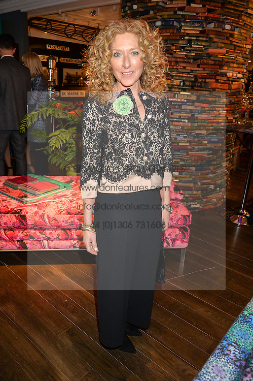 KELLY HOPPEN at the Duresta For Matthew Williamson Exclusive Launch At Harrods, Knightsbridge, London on 10th March 2016.