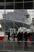 The USS New York arrives in New York Harbor for Christening