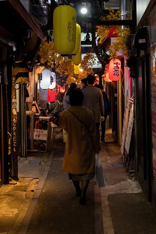 The famous bar alley in Shinjuku, Tokyo.