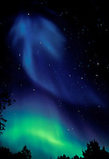 Northern lights or aurora borealis <br /> <br /> Sudbury<br /> Ontario<br /> Canada
