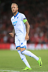 23rd August 2017 - UEFA Champions League - Play-Off (2nd Leg) - Liverpool v 1899 Hoffenheim - Kevin Vogt of Hoffenheim - Photo: Simon Stacpoole / Offside.