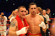 BOXEN: Middleweight, Felix Sturm - Predrag Radosevic, Dortmund, 06.07.2013<br /> Predrag Radosevic (MON, l.) - Felix Sturm (GER)<br /> ©Torsten Helmke