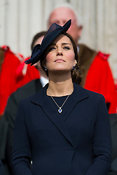 © London News Pictures. 13/03/2015. Catherine Duchess of Cambridge attends a service of commemoration to mark the end of combat operations in Afghanistan, at St Paul's Cathedral in London. Photo credit: Ben Cawthra/LNP