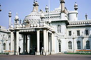 Exterior of the Royal Pavilion, Brighton, England photographed in 1970 architect John Nash