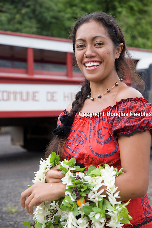 Welcome, Atuona, Hiva Oa, Marquesa Islands, French Polynesia, (Editorial use only)<br />