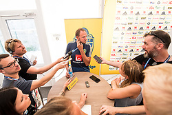 July 4, 2018 - Gelendzhik, Russia - 180704 Andreas Granqvist of the Swedish national football team in the mixed zone during the FIFA World Cup on July 4, 2018 in Gelendzhik..Photo: Petter Arvidson / BILDBYRN / kod PA / 92081 (Credit Image: © Petter Arvidson/Bildbyran via ZUMA Press)