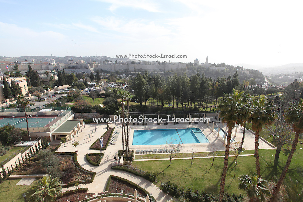 The view from the window of the King David Hotel, Jerusalem