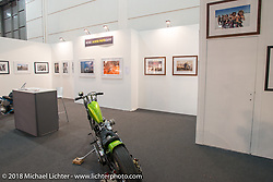 Michael Lichter photography display at the Motor Bike Expo. Verona, Italy. January 24, 2016.  Photography ©2016 Michael Lichter.