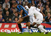 Picture by Daniel Hambury.<br /> 27/07/05.<br /> Crystal Palace v Inter Milan.<br /> Pre Season Friendly.<br /> Inter's Adriano burst past the Palace defence.