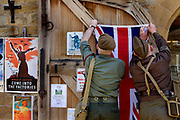 World war 2 re-enactment in the village hall, Hutton Le Hole, North Yorkshire moors