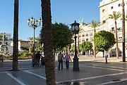 People walking in Plaza del Arenal, Jerez de la Frontera, Spain