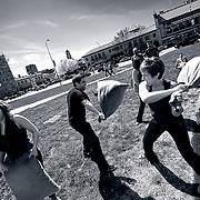 2011 International Pillow Fight Day in Kansas City Missouri.