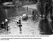 Scene on the river during Trinity College & Clare May Ball. Cambridge. 10 June 1985, Film 85399f10<br />© Copyright Photograph by Dafydd Jones<br />66 Stockwell Park Rd. London SW9 0DA<br />Tel 0171 733 0108