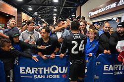 August 29, 2018 - San Jose, California, United States - San Jose, CA - Wednesday August 29, 2018: Nick Lima, fans during a Major League Soccer (MLS) match between the San Jose Earthquakes and FC Dallas at Avaya Stadium. (Credit Image: © John Todd/ISIPhotos via ZUMA Wire)