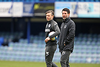 Football - 2020 / 2021 Sky Bet League One - Portsmouth vs. Ipswich Town - Fratton Park<br /> <br /> Portsmouth's New Head Coach Danny Cowley with his younger brother and Assistant Nicky Cowley before kick off of there first game in charge at Fratton Park <br /> <br /> COLORSPORT/SHAUN BOGGUST