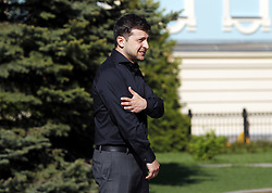 May 4, 2019 - Kiev, Kiev, Ukraine - Volodymyr Zelensky is seen after his meeting..Ukrainian newly elected president Volodymyr Zelensky meets with lawmakers of Ukrainian Parliament and decides on May 19 as his inauguration date, according to UNIAN inform agency report. (Credit Image: © Pavlo Gonchar/SOPA Images via ZUMA Wire)