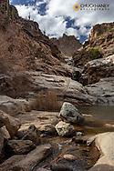 Seven Falls in Santa Catalina Mountains in Coronado National Forest in Tucson, Arizona, USA