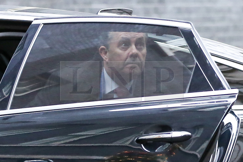 """© Licensed to London News Pictures. 18/12/2018. London, UK. Liam Fox - Secretary of State for International Trade and President of the Board of Trade arrives in Downing Street for the weekly Cabinet meeting. The Cabinet will discuss the preparations for a """"No Deal"""" Brexit. Photo credit: Dinendra Haria/LNP"""