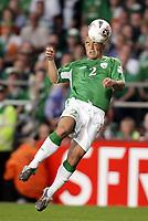 Fotball<br /> VM-kvalifisering<br /> Irland v Frankrike<br /> 07.09.2005<br /> Foto: Dppi/Digitalsport<br /> NORWAY ONLY<br /> <br /> STEPHEN CARR (IRE)