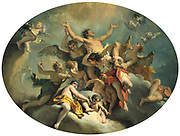 Assumption of St. Sebastian,   Sebastiano Ricci (1659-1734) Italian  Painter. Rococco.Oil on canvas.an