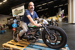 Sultans of Sprint display at the Intermot International Motorcycle Fair. Cologne, Germany. Wednesday October 3, 2018. Photography ©2018 Michael Lichter.