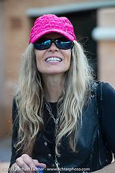 Karen Davidson of Harley-Davidson at the annual MDA Ladies Run to Destination Daytona sponsored by Harley-Davidson the Tuesday of Daytona Beach Bike Week. FL, USA. March 10, 2015.  Photography ©2015 Michael Lichter.