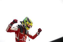 September 23, 2018 - Spielberg, Austria - MICK SCHUMACHER of Germany and Prema Theodore Racing celebrates after winning the 2018 FIA Formula 3 European Championship race 2 at the Red Bull Ring in Spielberg, Austria. (Credit Image: © James Gasperotti/ZUMA Wire)
