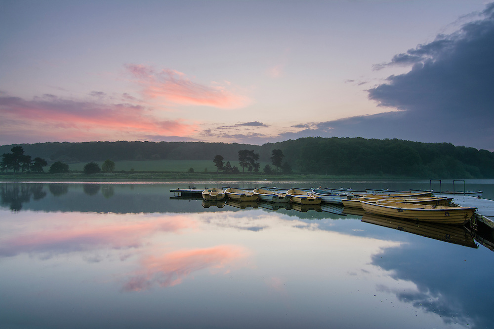 Just before the sunrise at Thornton Reservoir, Leicestershire.