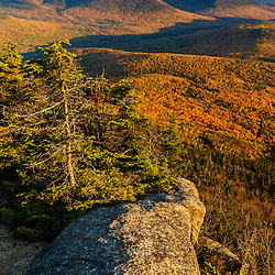 Vew of the Percy Peaks and Nash Stream valley from Sugarloaf Mountain in New Hampshire's Nash Stream State Forest. Stratford. Fall.