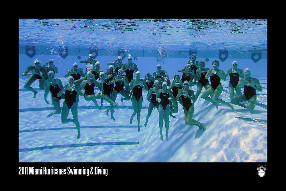 2011 Miami Hurricanes Swimming & Diving Team Photo